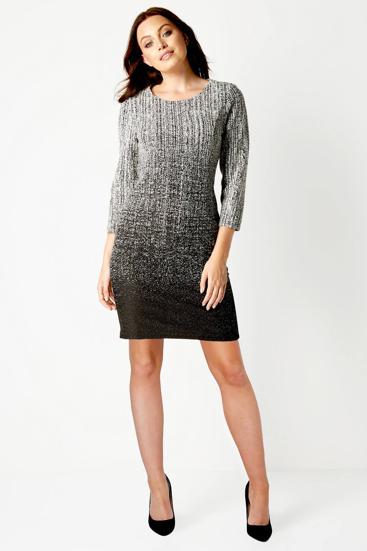 Roman Originals Women/'s Ombre Textured Side Pocket Dress