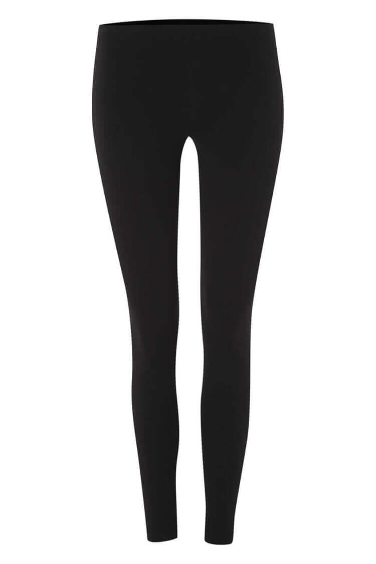 Roman Originals Women/'s Black Stretch Plain Leggings Sizes 10-20