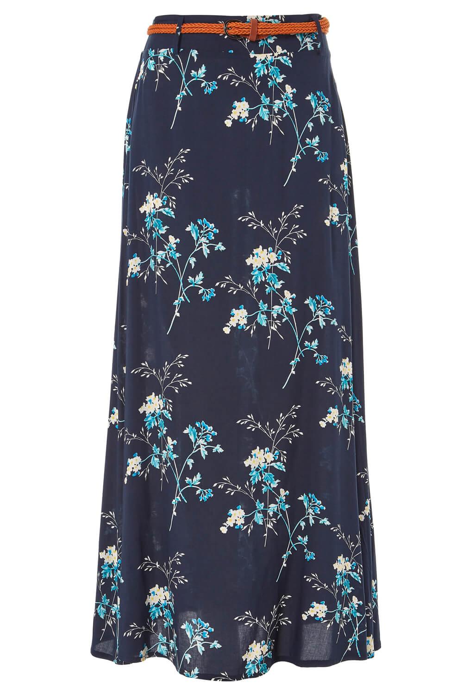 Imprimé Floral Belted Maxi Longueur Summer Boho Jupe-Mesdames Femmes Roman Originals