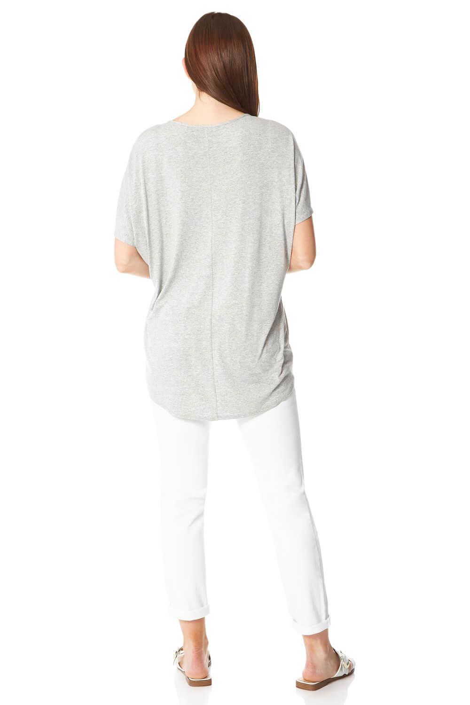 Roman Originals Women Feather Diamante Embellished T-Shirt