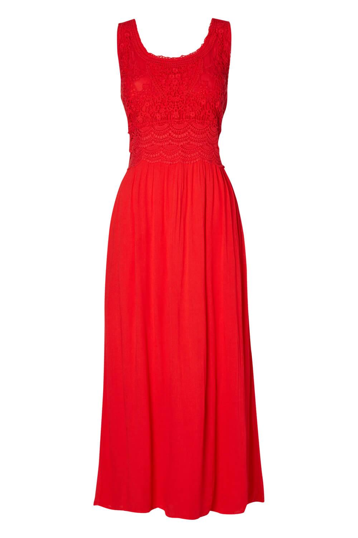 Roman Originals Womens Orange Cotton Embroidered Maxi Dress Sizes 10-20