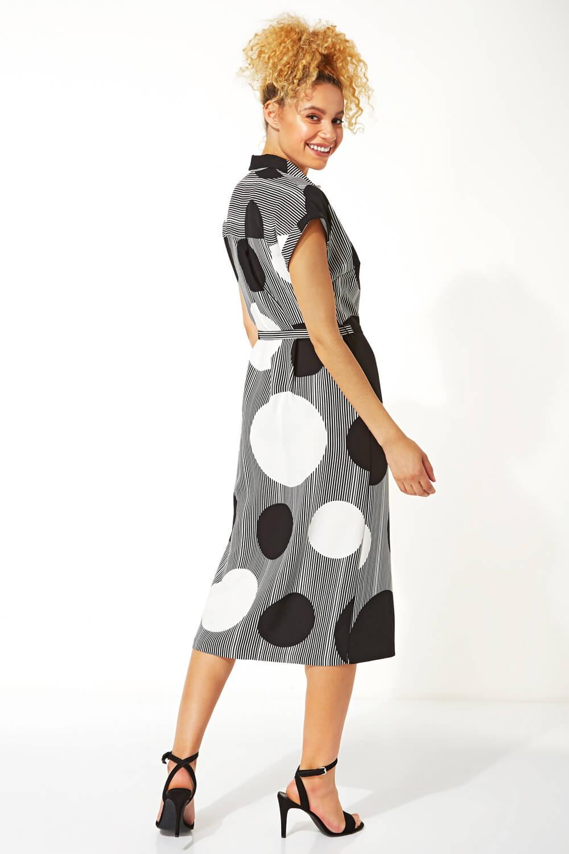 Roman Originals Womens Spot Stripe Print Shirt Dress