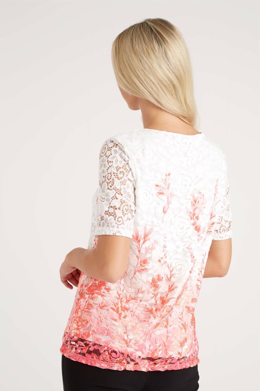 Roman Originals Women/'s Multi Floral Lace Top Sizes 10-20