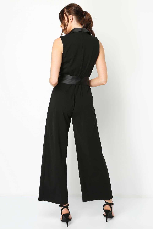 Roman Originals Women Tux Style Jumpsuit