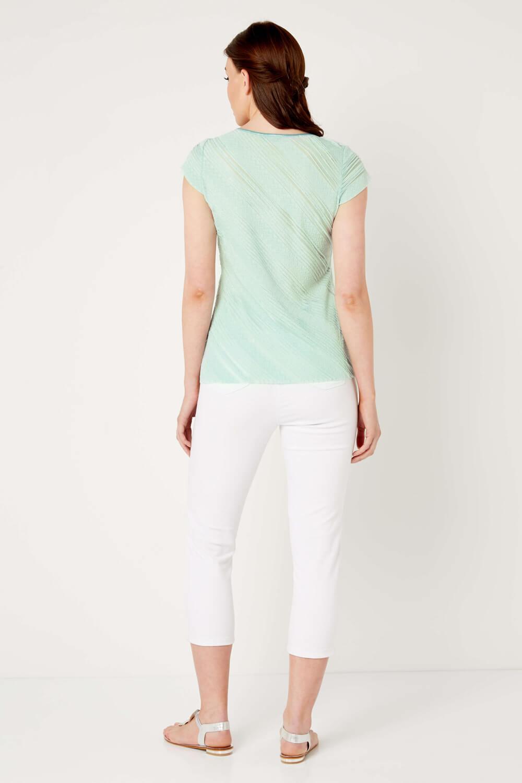 Roman Originals Womens Mint Green Frill Jersey Top Sizes 10-20
