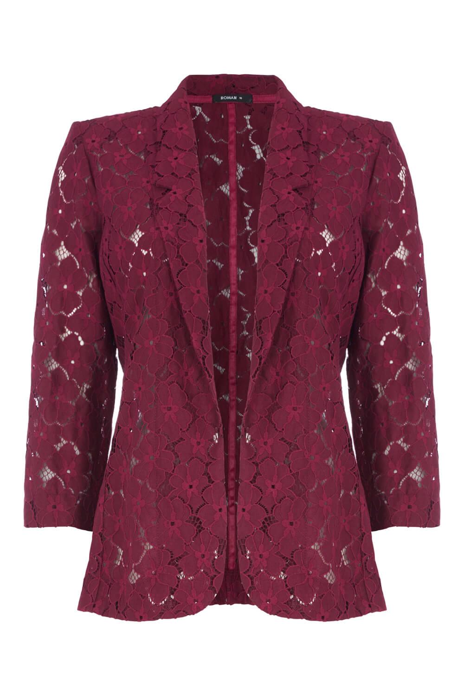 Roman Originals giacca pizzo donna in Borgogna Tg 10-20