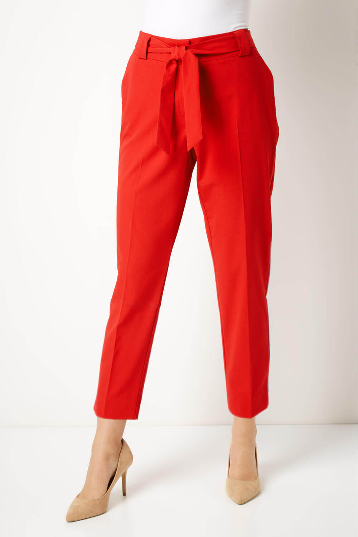 Roman Originals Women Tailored Belted Pocket Trouser