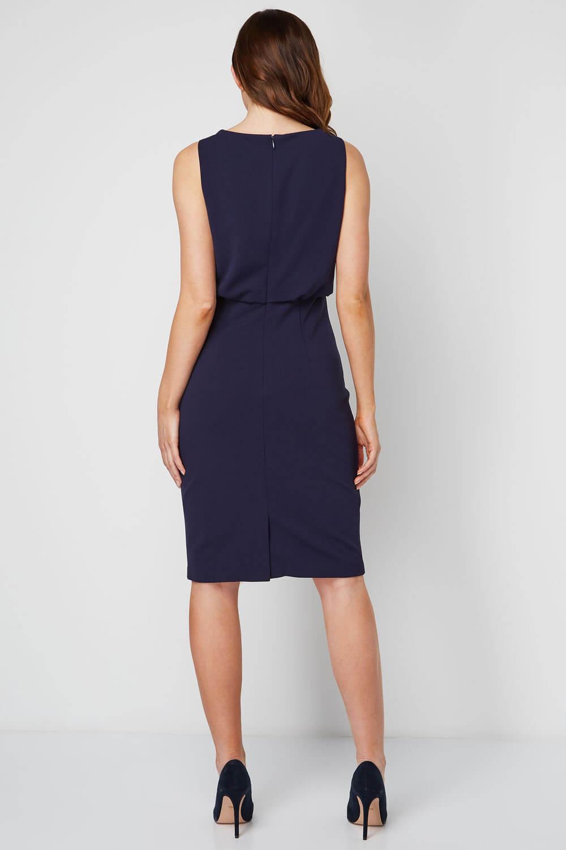 Roman Originals Womens Cowl Neck Sleeveless Fitted Dress