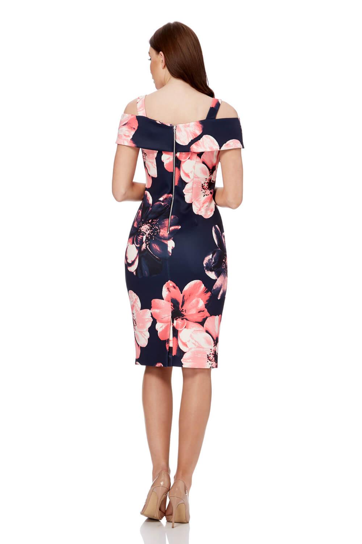 Roman Originals Floral para Mujer Vestido De Buceo hombro frío
