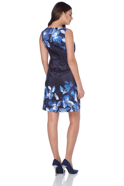 Roman Originals Women/'s Border Floral Shift Dress Sizes 10-20