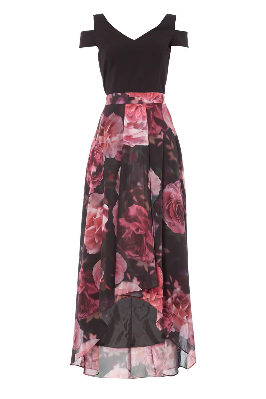 Roman Originals Women/'s Pink Floral Print Maxi Dress Sizes 10-20