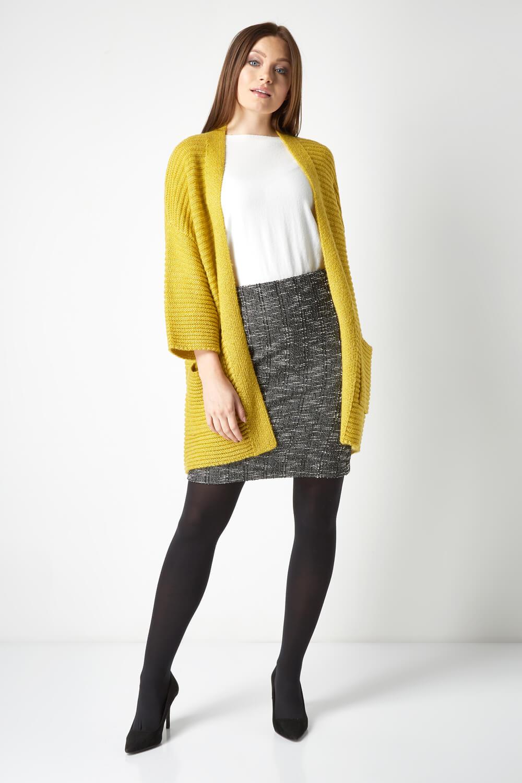 thumbnail 50 - Roman Originals Women's Textured Cotton Mix Jersey Short Skirt Formal Work Wear