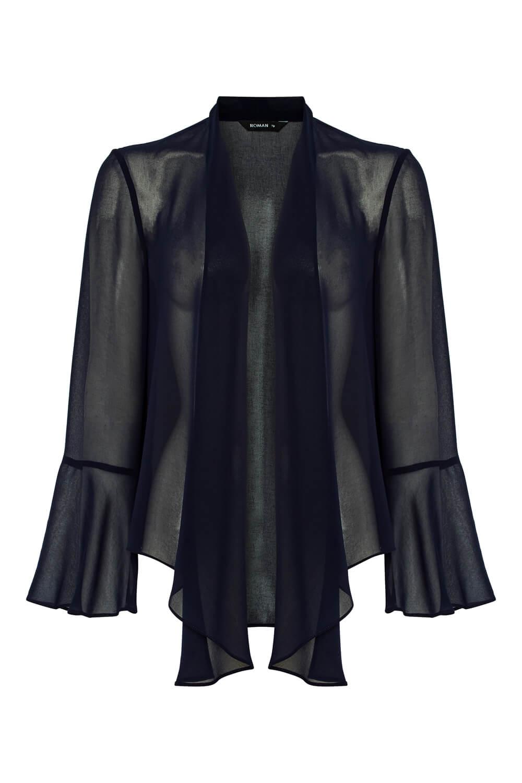 Roman-Originals-Women-039-s-Black-Sheer-Chiffon-Jacket-Sizes-10-20 thumbnail 20