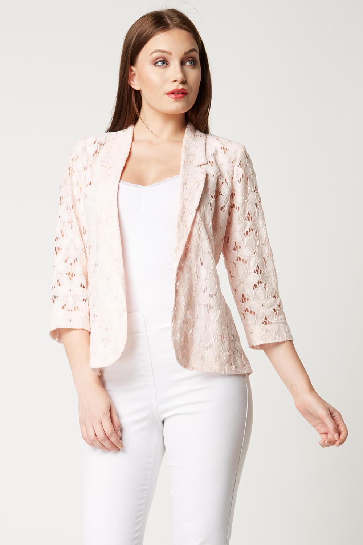 Roman-Originals-Womens-Rose-Pink-Floral-Lace-Jacket-Sizes-10-20 thumbnail 30