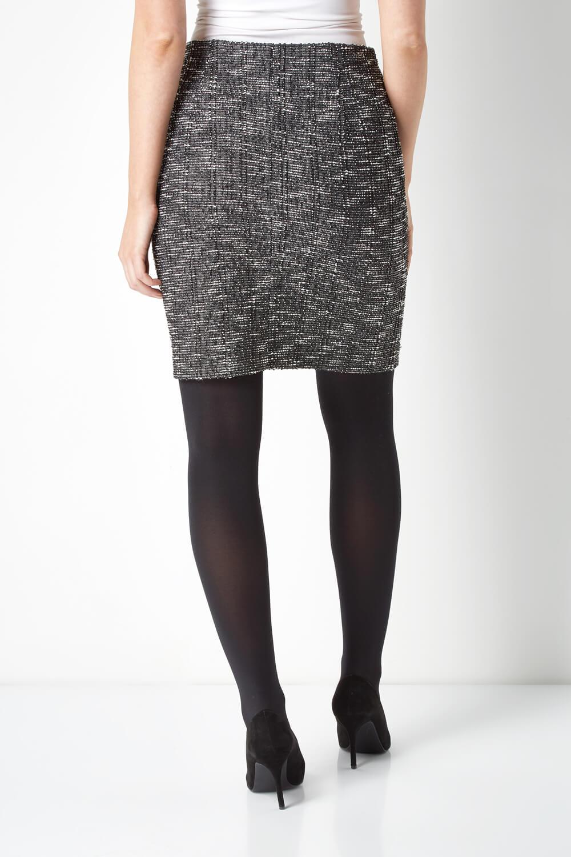 thumbnail 49 - Roman Originals Women's Textured Cotton Mix Jersey Short Skirt Formal Work Wear