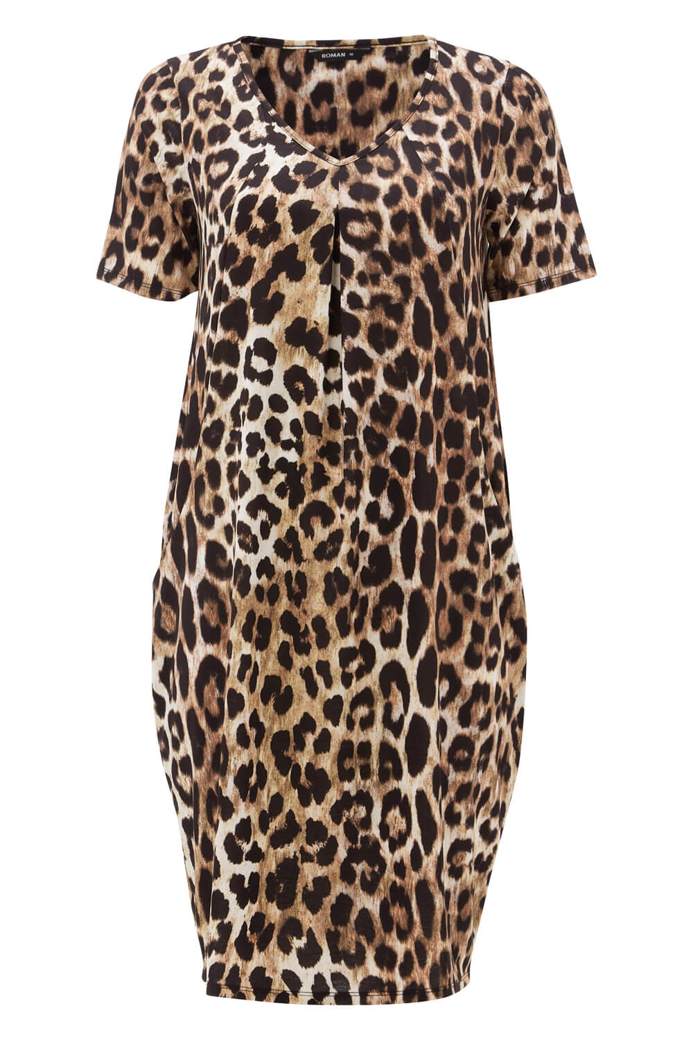Roman-Originals-Women-Leopard-Animal-Print-Dress-with-Pockets thumbnail 15