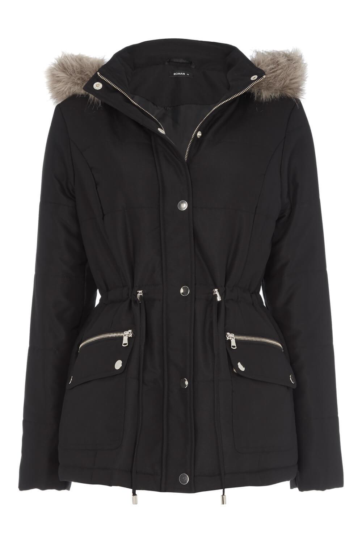 Roman-Originals-Ladies-Short-Parka-Coat-with-Hood