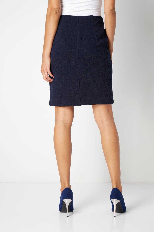 thumbnail 33 - Roman Originals Women's Textured Cotton Mix Jersey Short Skirt Formal Work Wear