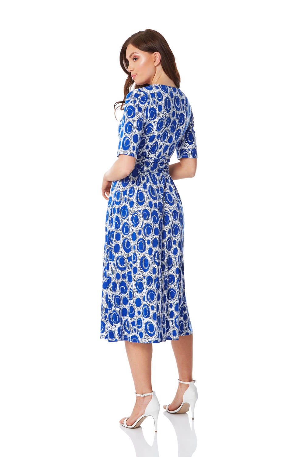 Roman-Originals-Short-Sleeve-Printed-Fit-and-Flare-Dress thumbnail 9