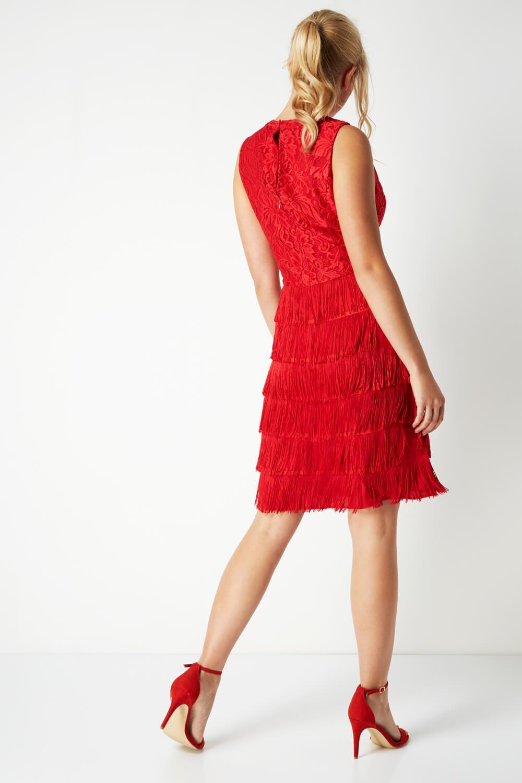 thumbnail 24 - Roman-Originals-Womens-Lace-Flapper-Tassels-Dress-in-Black-Sizes-10-20