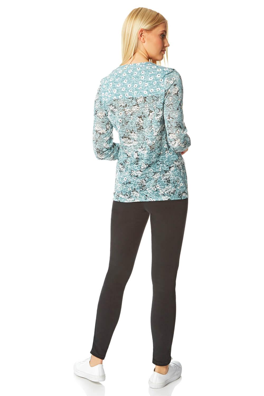 Roman-Originals-Femme-Ditsy-Imprime-Chemise-en-Bleu-marine-Tailles-10-20 miniature 35