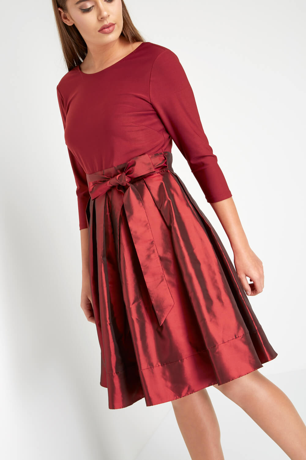 Roman-Originals-Women-039-s-Red-Fit-and-Flare-Dress-Sizes-10-20 thumbnail 10