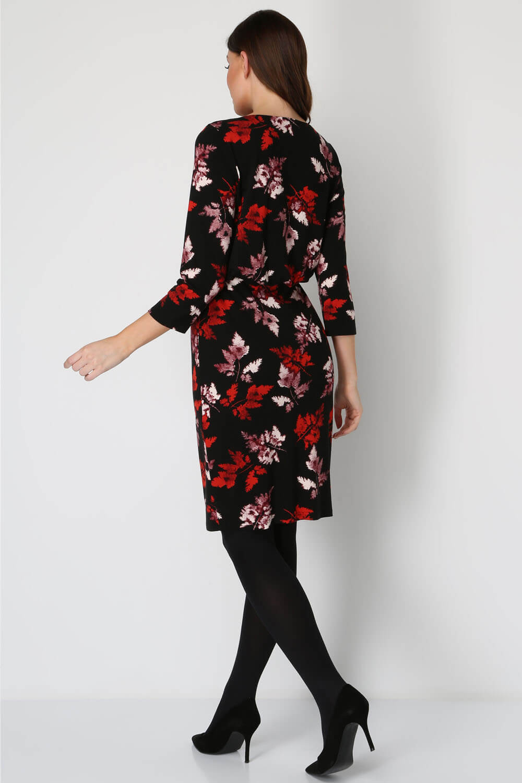 Roman-Originals-Women-Leaf-Print-Blouson-Dress-Ladies-Everyday-Smart thumbnail 9