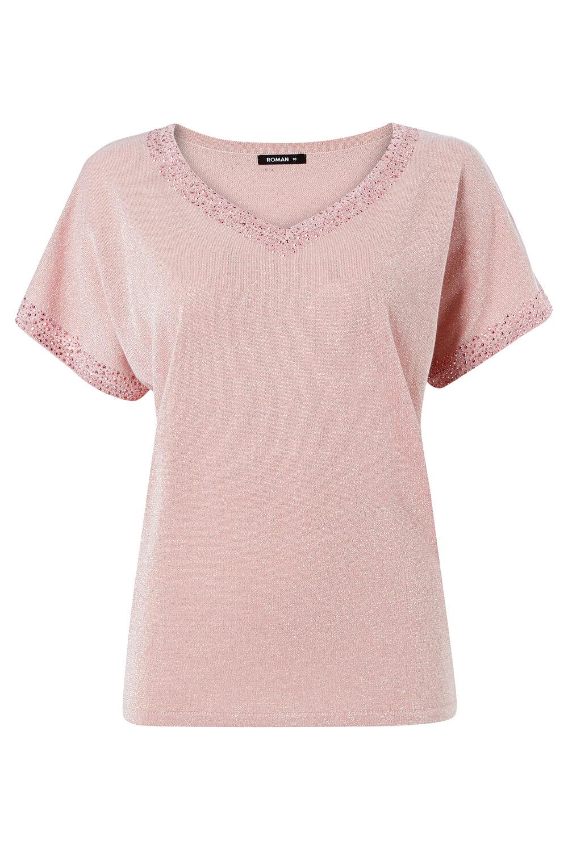 Roman-Originals-Women-039-s-Embellished-Batwing-T-shirt thumbnail 22