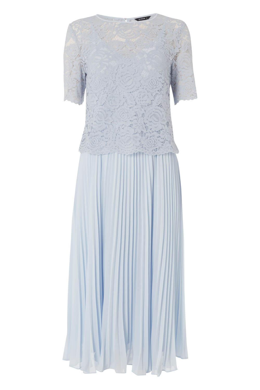Roman-Originals-Women-Lace-Top-Overlay-Pleated-Dress thumbnail 25