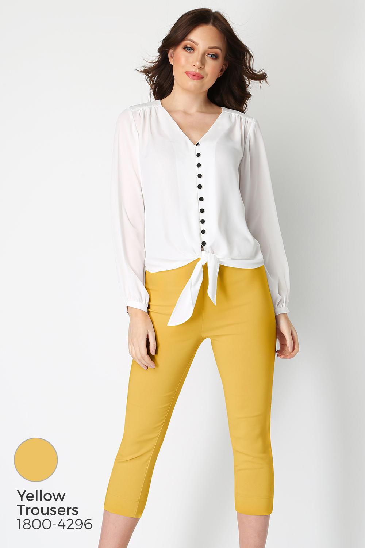 Roman-Originals-Women-039-s-Button-Tie-Front-Blouse-Ladies-Tops thumbnail 40