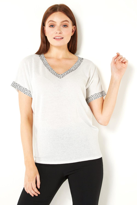Roman-Originals-Women-039-s-Embellished-Batwing-T-shirt thumbnail 41