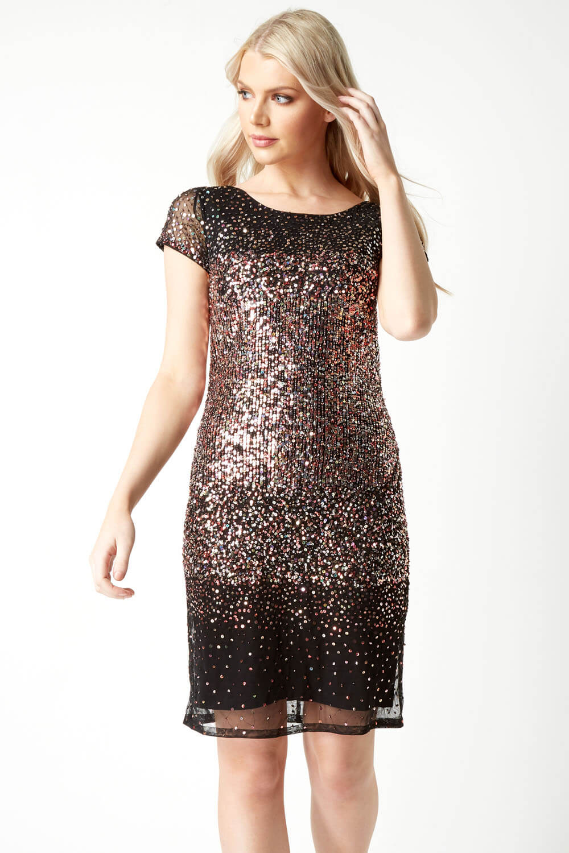Roman-Originals-Women-Ombre-Sequin-Dress-in-size-10-20 thumbnail 20
