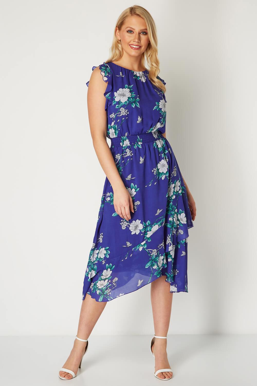Roman-Originals-Womens-Floral-Ruffle-Dress thumbnail 6
