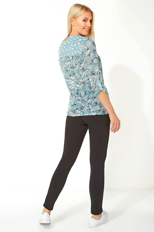 Roman-Originals-Femme-Ditsy-Imprime-Chemise-en-Bleu-marine-Tailles-10-20 miniature 38