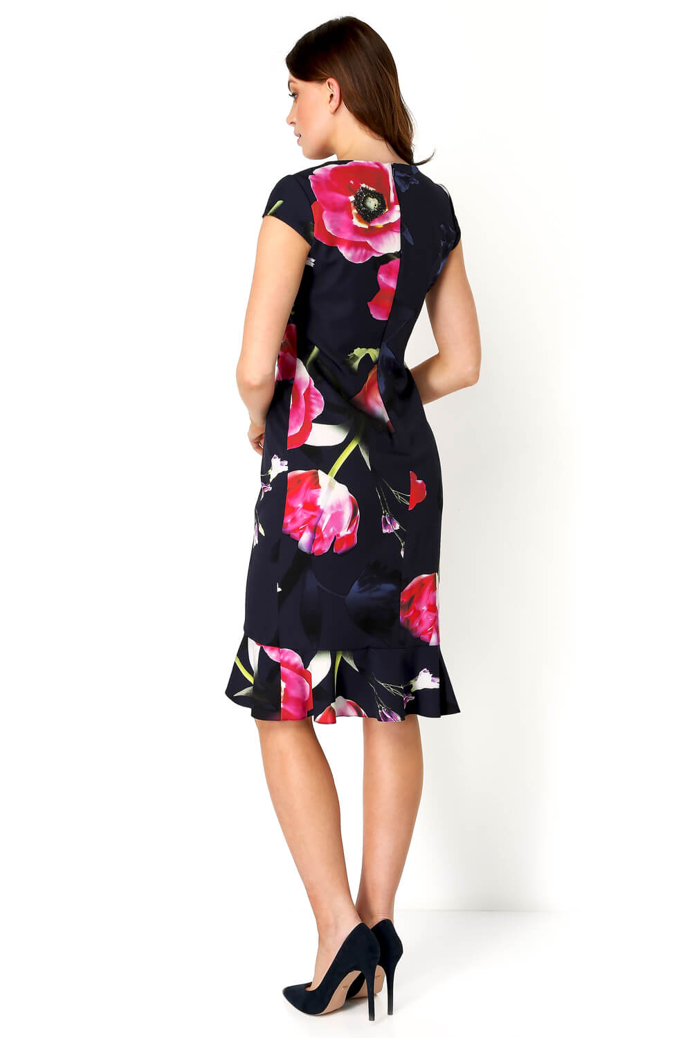 Roman-Originals-Women-Floral-Print-Midi-Ruffle-Hem-Dress thumbnail 16