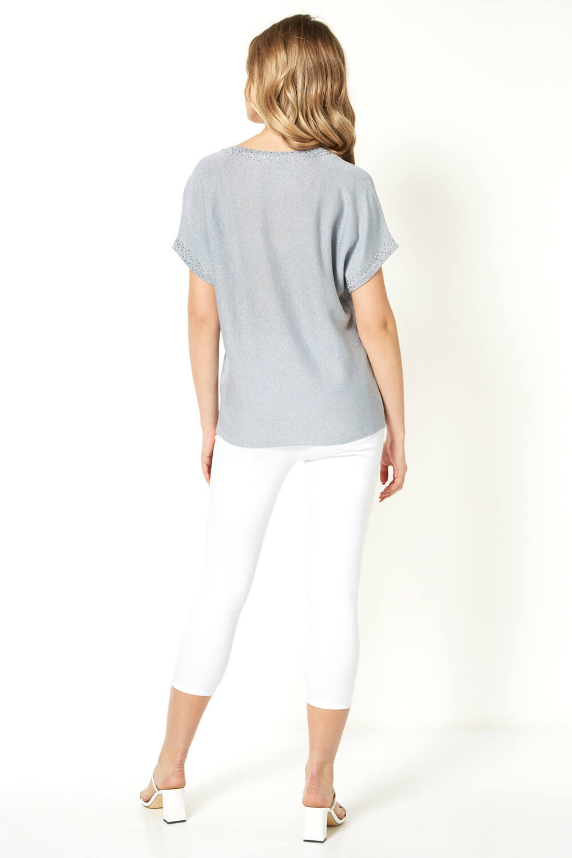 Roman-Originals-Women-039-s-Embellished-Batwing-T-shirt thumbnail 35