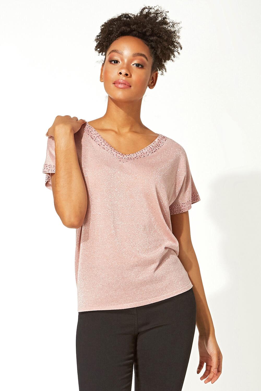 Roman-Originals-Women-039-s-Embellished-Batwing-T-shirt thumbnail 19