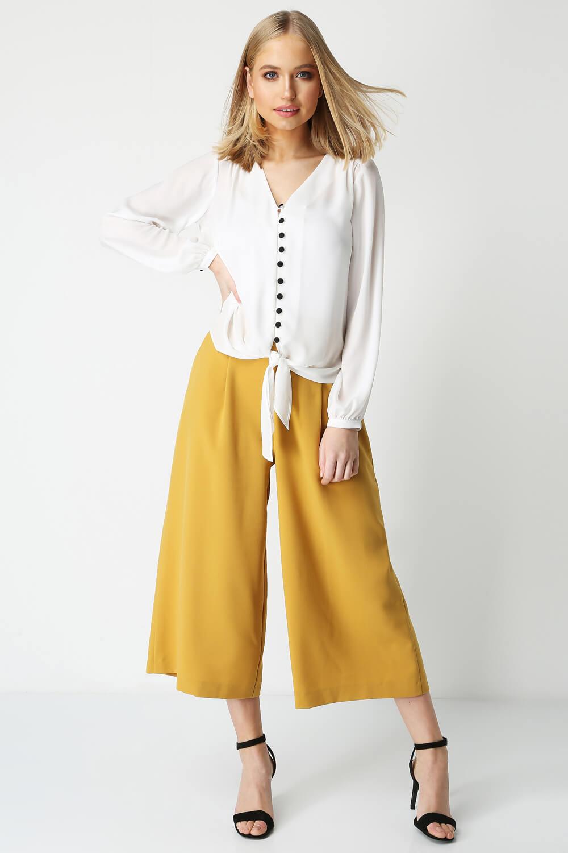 Roman-Originals-Women-039-s-Button-Tie-Front-Blouse-Ladies-Tops thumbnail 37