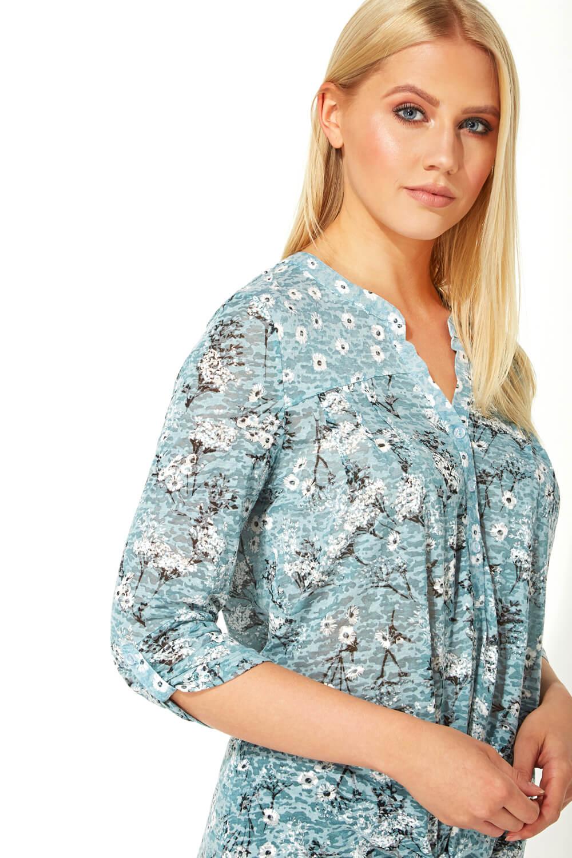 Roman-Originals-Femme-Ditsy-Imprime-Chemise-en-Bleu-marine-Tailles-10-20 miniature 39