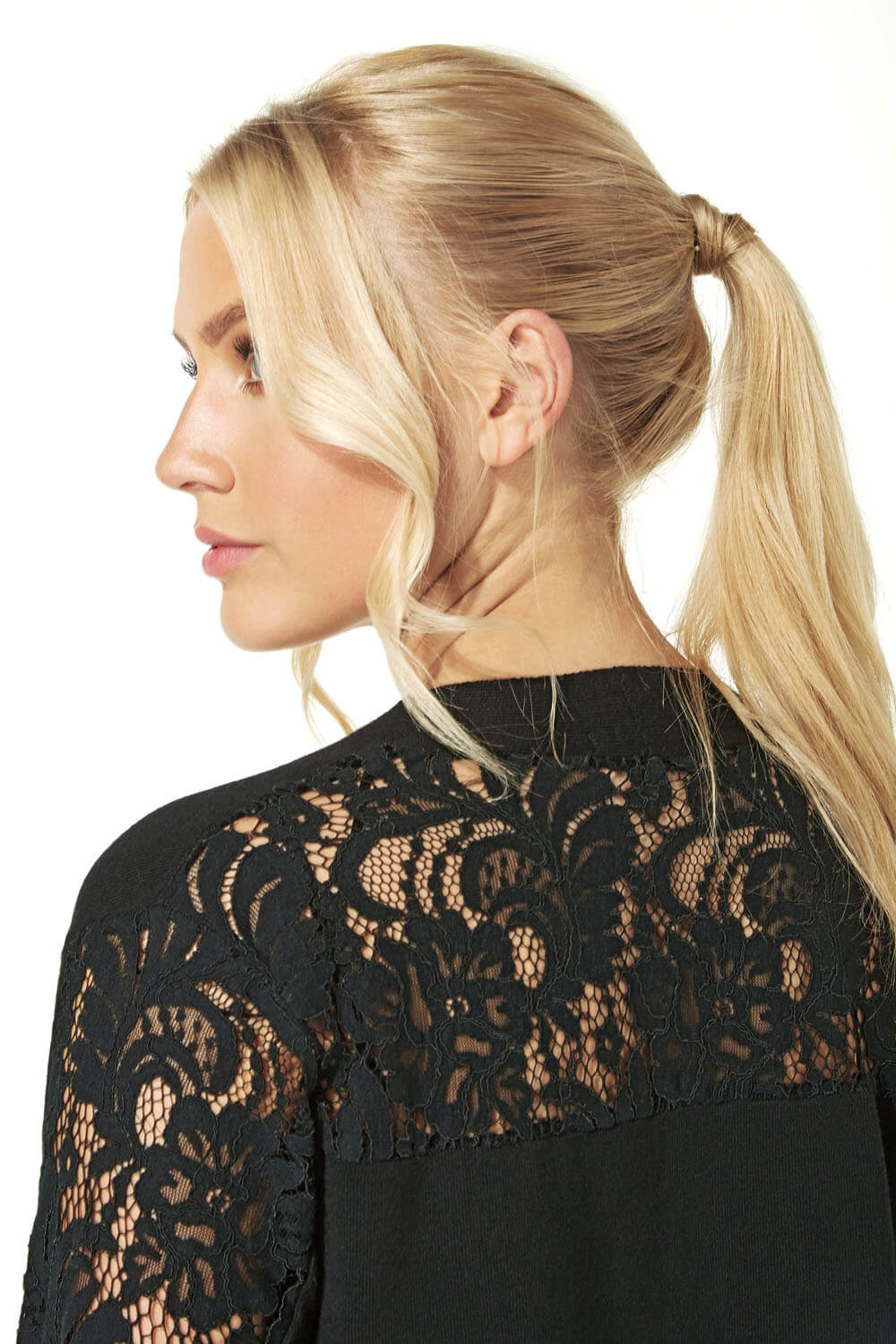 Longline-Long-Sleeve-Lace-Back-Cardigan-Women-Roman-Originals thumbnail 15