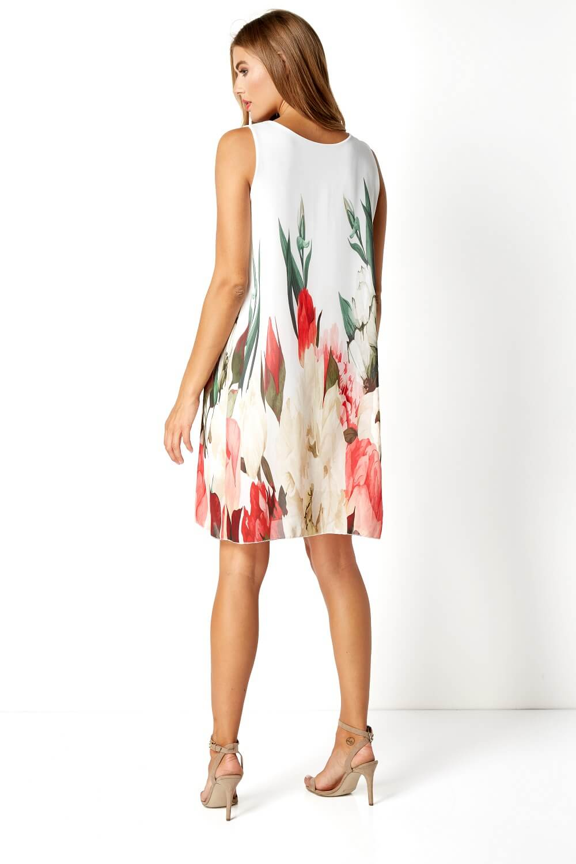 Roman-Originals-Women-039-s-Floral-Print-Swing-Dress-Sizes-10-20 thumbnail 11