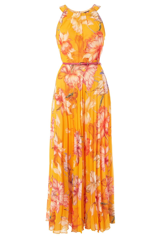 Roman-Originals-Women-039-s-Sleeveless-Floral-Pleated-Maxi-Dress thumbnail 25