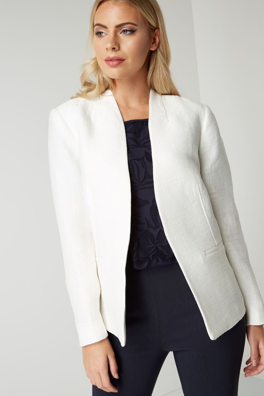 Roman-Originals-Women-039-s-White-Pleat-Tailored-Jacket-Sizes-10-20 thumbnail 14