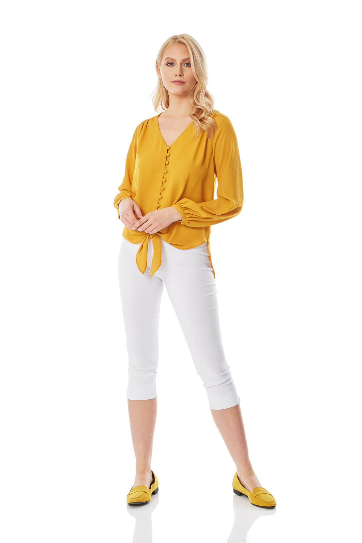 Roman-Originals-Women-039-s-Button-Tie-Front-Blouse-Ladies-Tops thumbnail 20