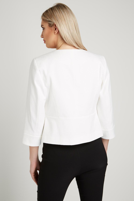 Roman-Originals-Women-039-s-White-Tailored-Jacquard-Jacket-Sizes-10-20 thumbnail 10