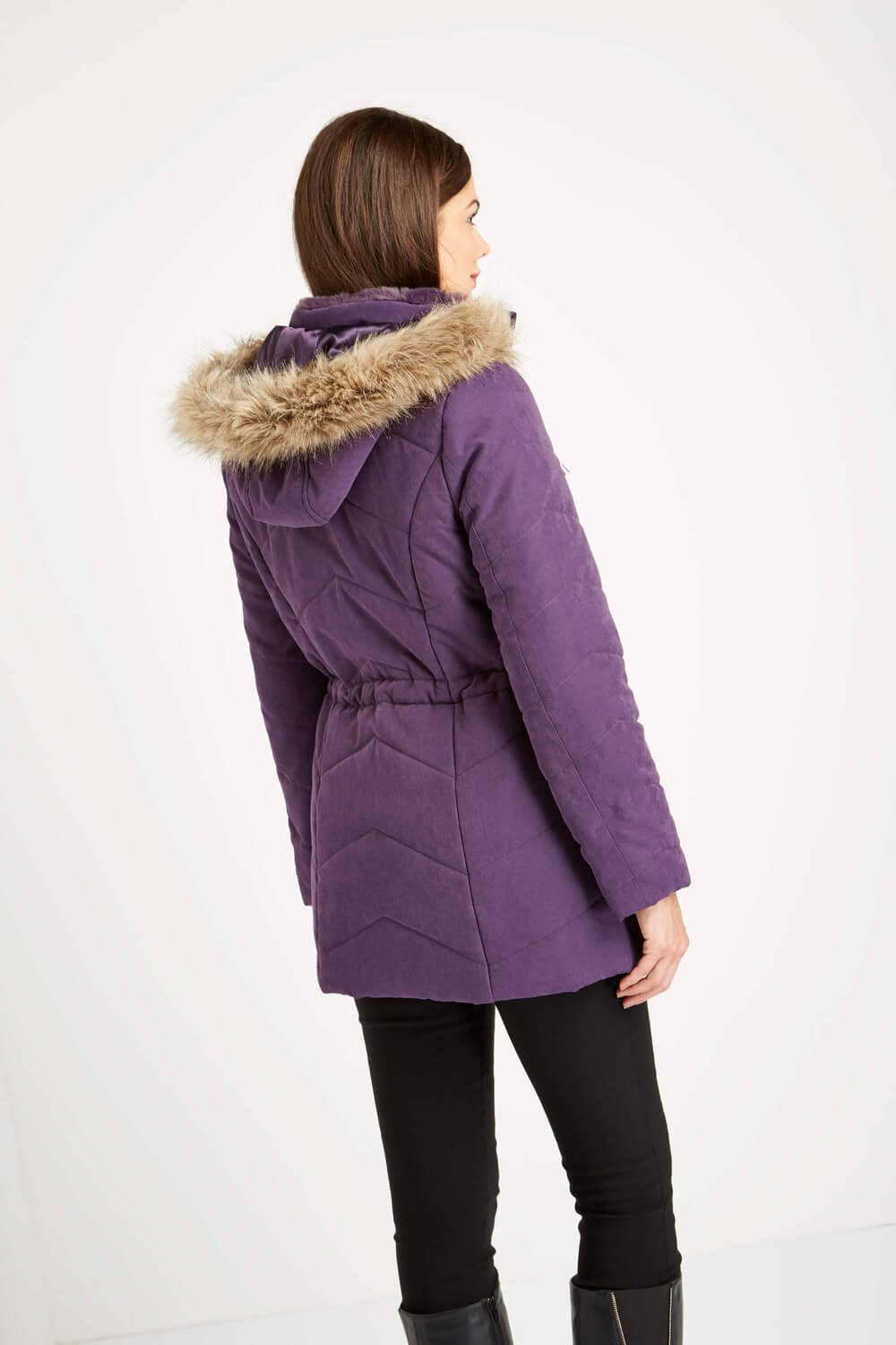 Roman-Originals-Women-039-s-Blue-Quilted-Parka-Coat-with-Hood-Sizes-10-20 thumbnail 23