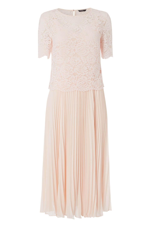 Roman-Originals-Women-Lace-Top-Overlay-Pleated-Dress thumbnail 32