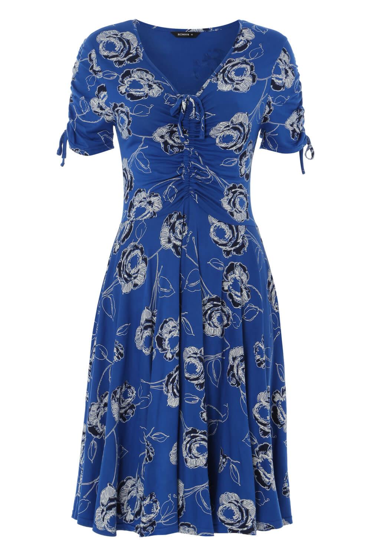 Roman-Originals-Rose-Print-Tea-Dress thumbnail 12