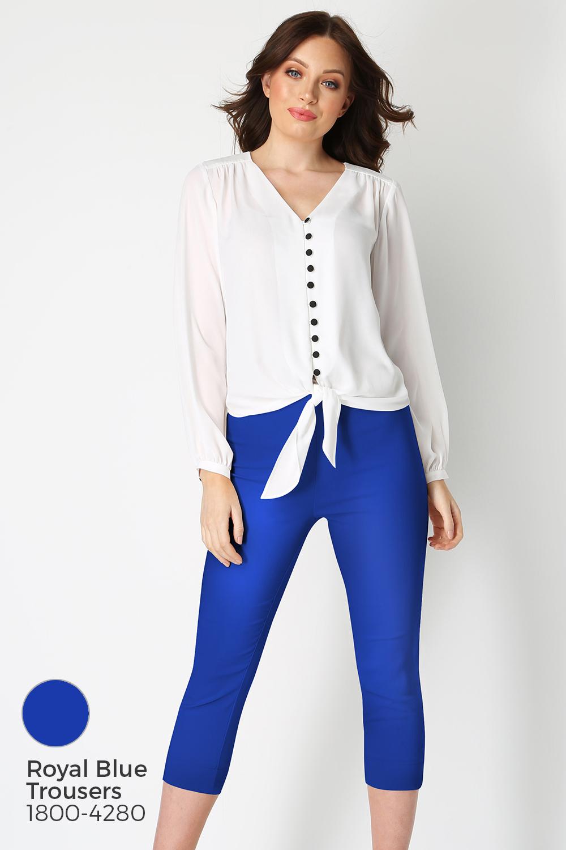 Roman-Originals-Women-039-s-Button-Tie-Front-Blouse-Ladies-Tops thumbnail 42