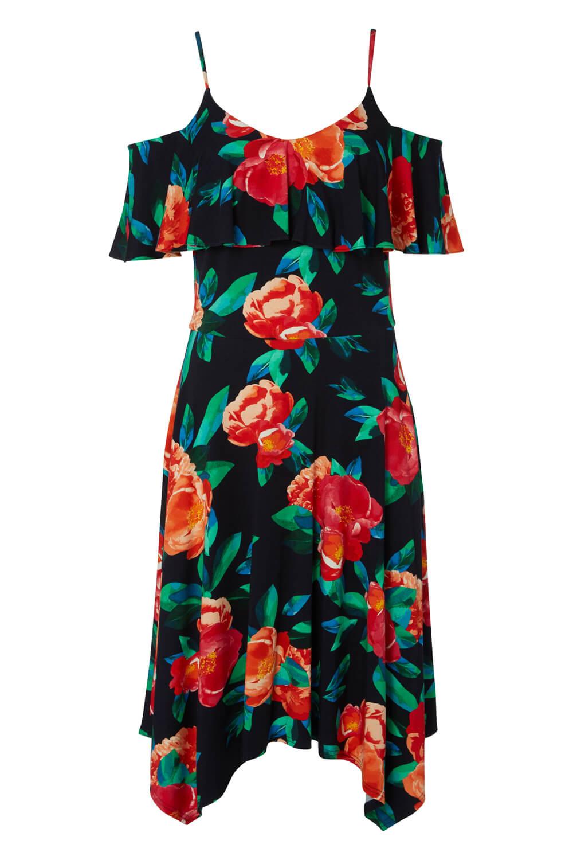 Roman-Originals-Women-Hanky-Hem-Cold-Shoulder-Dress thumbnail 23